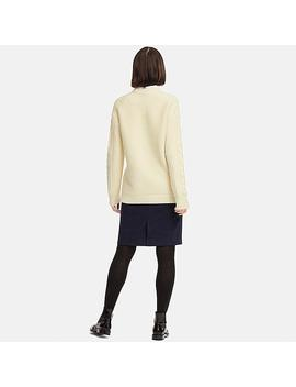 Women Cable Long Sweater by Uniqlo