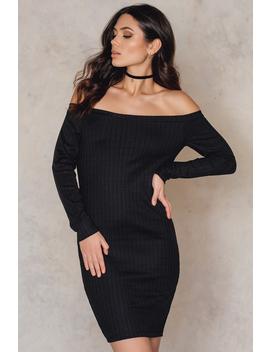 Off Shoulder Dress Black by Na Kd