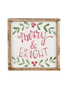 Merry & Bright Framed Wall Art by Glory Haus