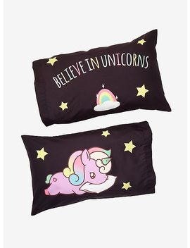 Believe In Unicorns Pillowcase Set by Hot Topic