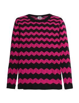 Metallic Crochet Knit Cotton Blend Sweater by M Missoni