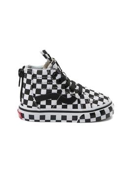 Toddler Vans Sk8 Hi Zip Full Chex Skate Shoe by Vans