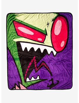Invader Zim Big Face Throw Blanket by Hot Topic