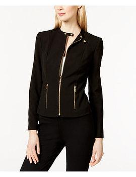 Band Collar Moto Jacket by Calvin Klein