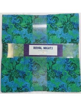 "Batik Layer Cake Junior   Royal Nights   Wilmington Batiks   24   10"" Squares   Beautiful Colors   Turquoise, Blues & Purples by Etsy"