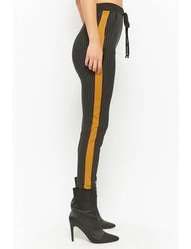 Striped Skinny Ankle Pants by Forever 21