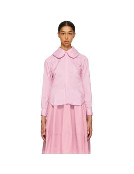 Pink Round Collar Shirt by Comme Des GarÇons Comme Des GarÇons