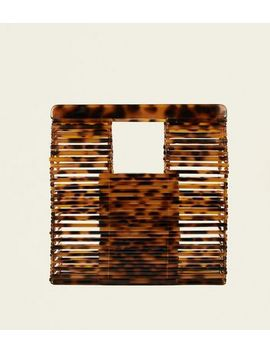 Brown Faux Tortoiseshell Slatted Tote Bag by New Look