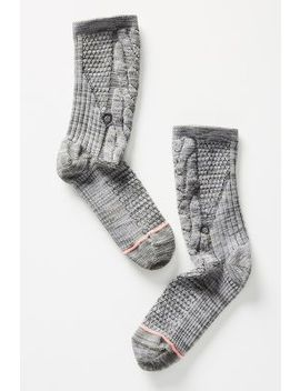 Stance Olivia Cable Knit Crew Socks by Stance