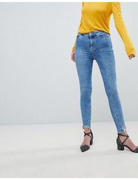 New Look – Vanessa – Superenge Skinny Jeans Mit Hohem Bund by New Look