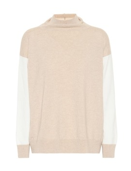 Two Tone Cashmere Sweater by Agnona