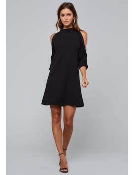 Cold Shoulder Shift Dress by Bebe