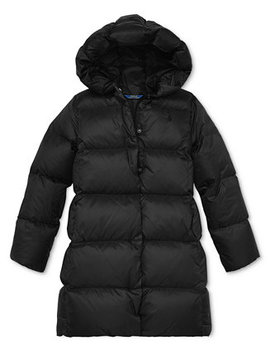 Big Girls Long Hooded Down Jacket by Polo Ralph Lauren
