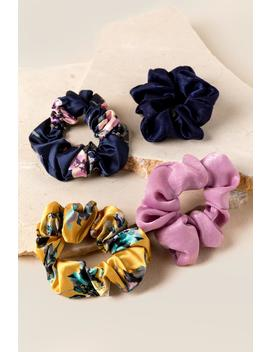 Cadence Floral Scrunchie Set by Francesca's