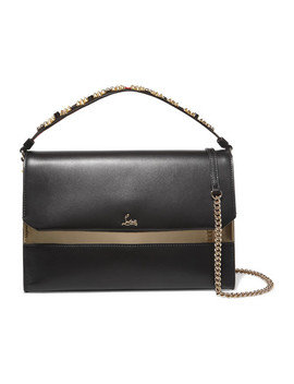 Loubiblues Studded Leather Shoulder Bag by Christian Louboutin