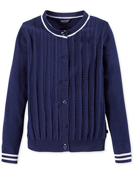 Big Girls Mini Cable Knit Cardigan by Tommy Hilfiger