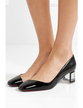 Provisore 55 Patent Leather And Pvc Pumps by Christian Louboutin
