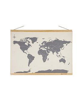 Suck Uk Cross Stitch Map Kit / Diy Embroidery Wall Hanging by Suck Uk
