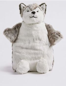 Husky Hot Water Bottle by Marks & Spencer