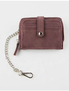 Violet Ray Zip Around Burgundy Wallet by Violet Ray