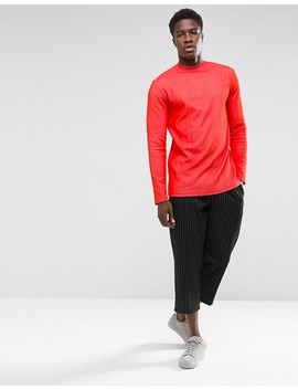 Weekday Jake Rib Long Sleeve T Shirt by Weekday