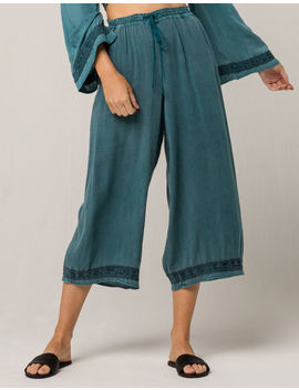 Patrons Of Peace Wide Leg Womens Crop Pants by Patrons Of Peace