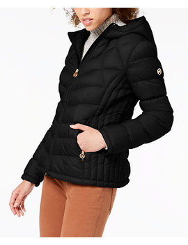 Hooded Packable Puffer Coat by Michael Michael Kors