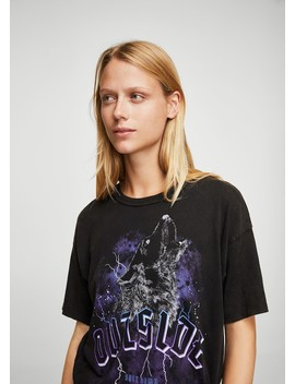 T Shirt Coton Rock by Mango