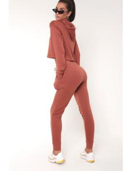 Rust Basic Tie Waist Joggers by I Saw It First