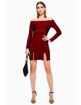 Studded Bardot Bandage Dress by Topshop