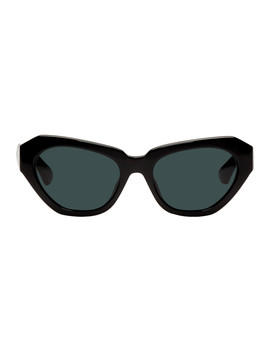 Black Linda Farrow Edition 166 C7 Cat Eye Sunglasses by Dries Van Noten