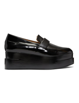 Black Lynn Platform Loafers by Clergerie