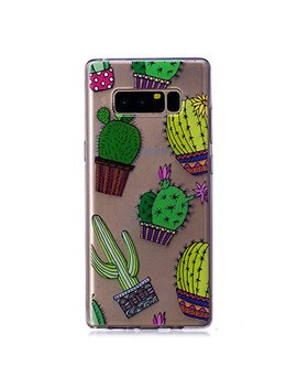 Shinyzone Samsung Galaxy Note 8 Case Ultra Thin Transparent Clear Soft Tpu Gel,Shockproof Scratch Resistant Protective Case Cover Cute Cartoon Colorful Printed Design Samsung Galaxy Note 8,Cactus by Shinyzone