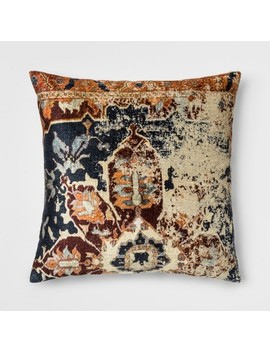 Distressed Printed Velvet Square Throw Pillow   Threshold™ by Shop This Collection