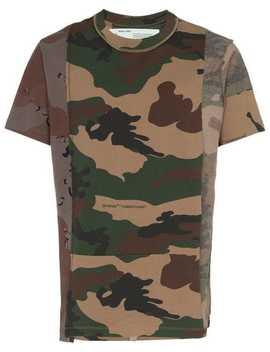 T Shirt Mit Rundem Ausschnitt by Off White