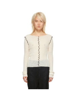 Off White Mohair Ashgate Sweater by Ann Demeulemeester