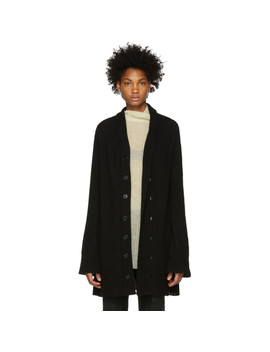 Black Soft Cardigan by Ann Demeulemeester
