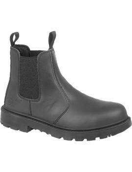 Grafters Grinder Unisex Mens Womens Ladies Chelsea Dealer Safety Boots Black by Ebay Seller