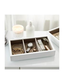 White Lacquer Compartment Tray by The White Company