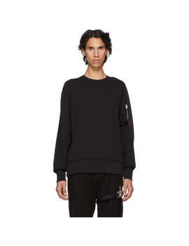 Black Sling Sweatshirt by 1017 Alyx 9 Sm