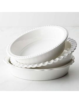 Williams Sonoma Ceramic Pie Dishes, Set Of 3 by Williams   Sonoma