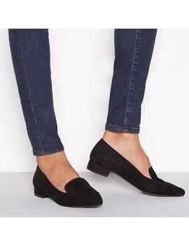 Principles   Black Suedette 'civil' Flat Wide Fit Loafers by Principles