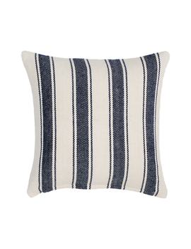 Awning Stripe Woven Cotton Accent Pillow by Dash & Albert