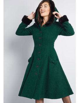 Collectif X Mc Winsome Warmth Fit And Flare Coat by Collectif