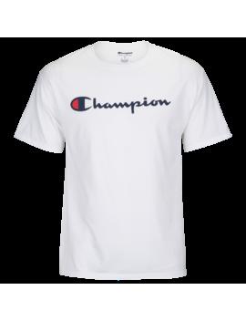 Champion Cotton Script Logo T Shirt by Champion