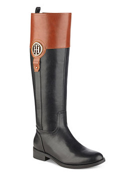 Ilia Wide Calf Riding Boots, Created For Macy's by Tommy Hilfiger