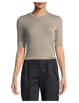 Short Sleeve Wool Crewneck Tee by Vince