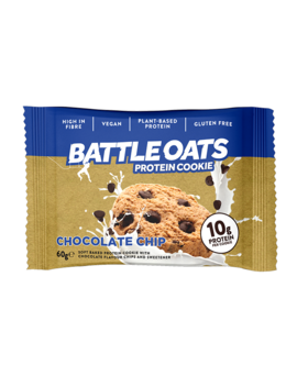 Battle Oats Chocolate Chip Cookie 60g by Battle Oats Chocolate Chip Cookie 60g