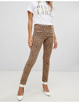 New Look   Hallie   Jeans Met Luipaardprint by Asos