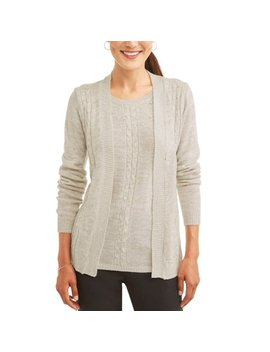 Women's Twofer Pearl Detail Cardigan Set by Evelyn Taylor